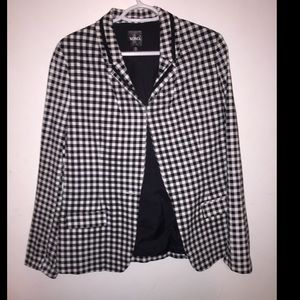 Women's checked blazer